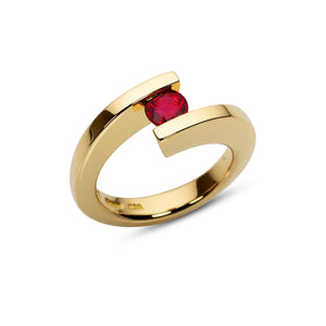0.80 ct. Ruby set in HTF