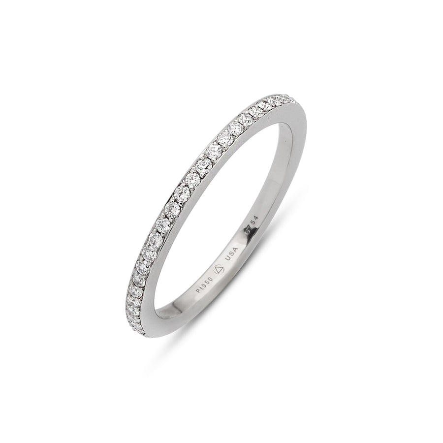 Skinny Omega 1 Row Eternity Band