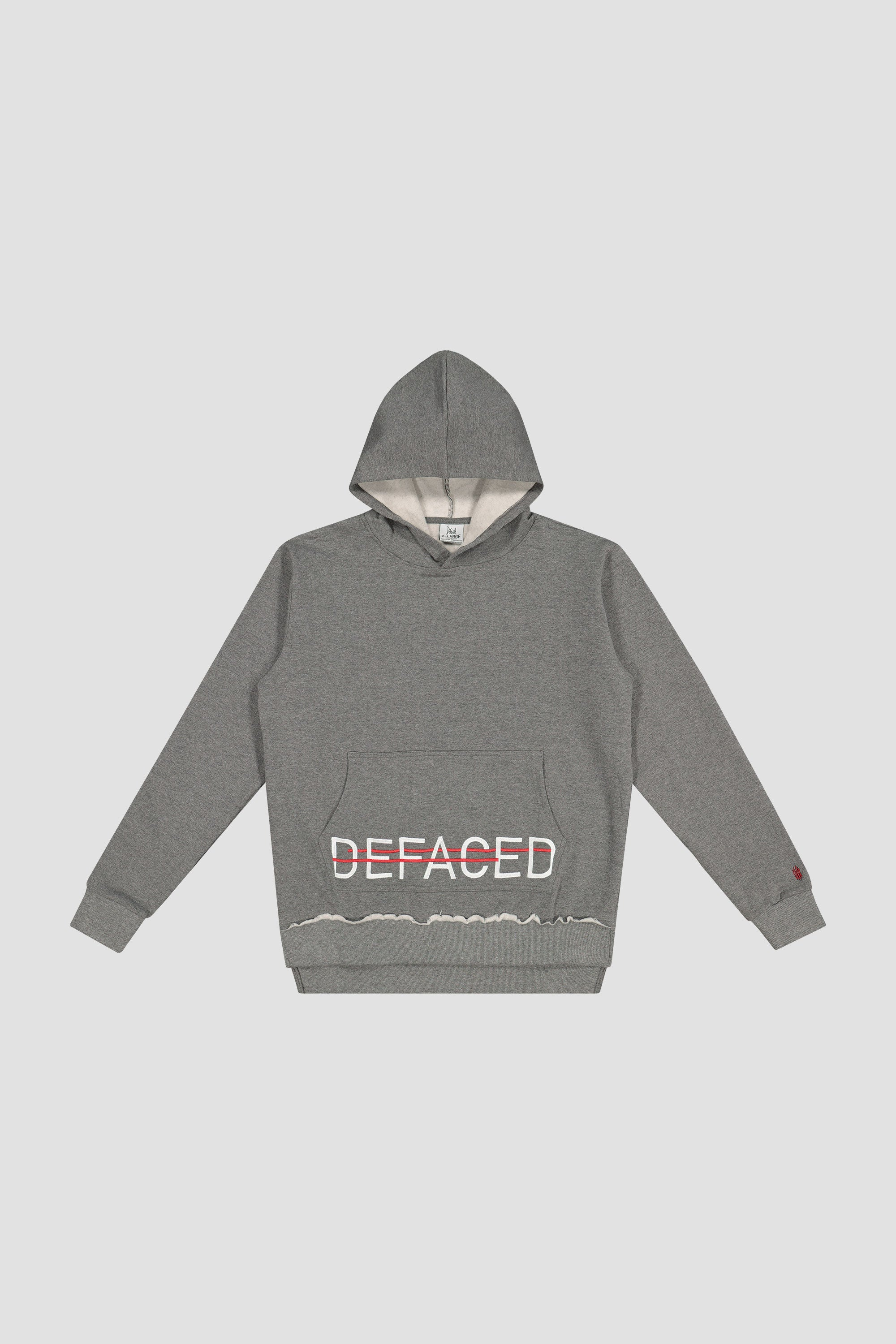 DEFACED EMBROIDERED HOODIE