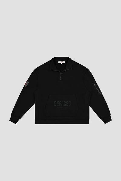 MIDNIGHT EMBROIDERED HALF ZIP