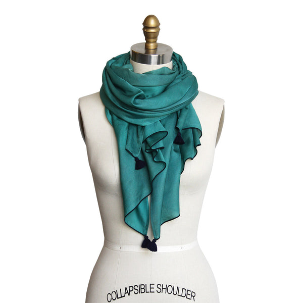 Gemstone Silk/Cotton Scarf