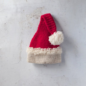 Pure Wool  Hand Knitted Christmas Hat