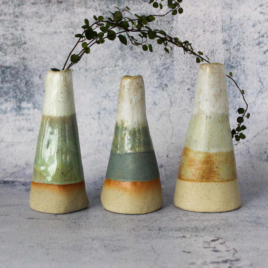 Stoneware Mountain Vases