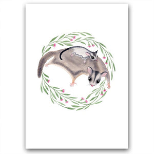 Sugar Glider Family Card