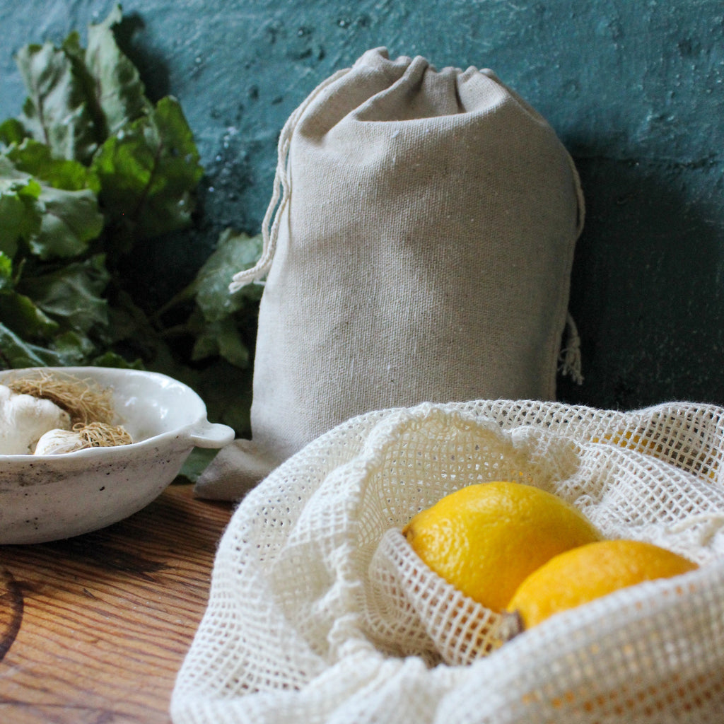 DIY Cotton Mesh Produce Bags