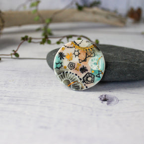 Porcelain Brooch Stars & Cells #2