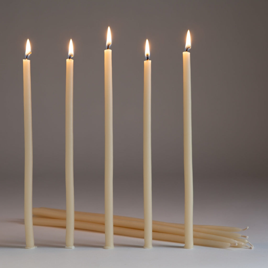 Organic Beeswax Taper Candles
