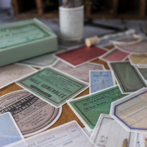 Vintage Paper Label Stickers