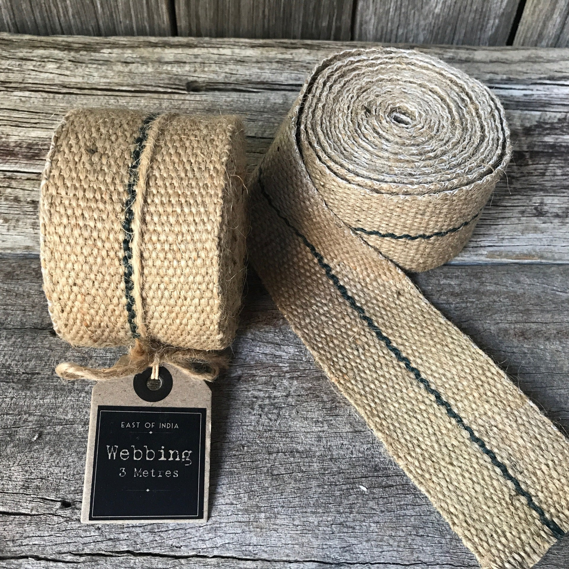 Natural webbing perfect for crafting from Tribe Castlemaine