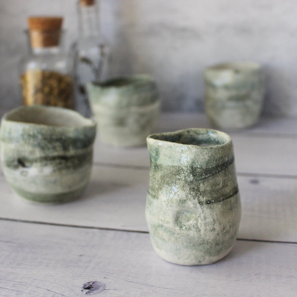 Little Green Ceramic Jugs
