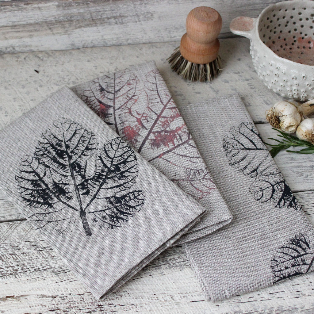 Leaf Printed Tea Towels