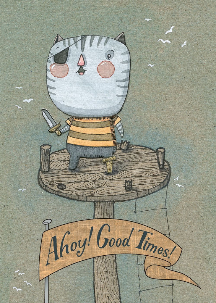 Ahoy Good Times Greeting Card