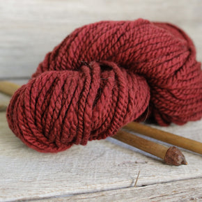 Tene's Local Handspun Yarn Maroon Brown