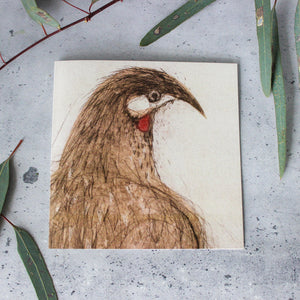 Red Wattlebird Card