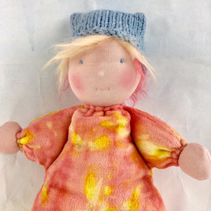 Waldorf Steiner doll botanically printed