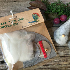 Craft kit to make your own tomten gnome handmade by Elfin Trail at Tribe Castlemaine