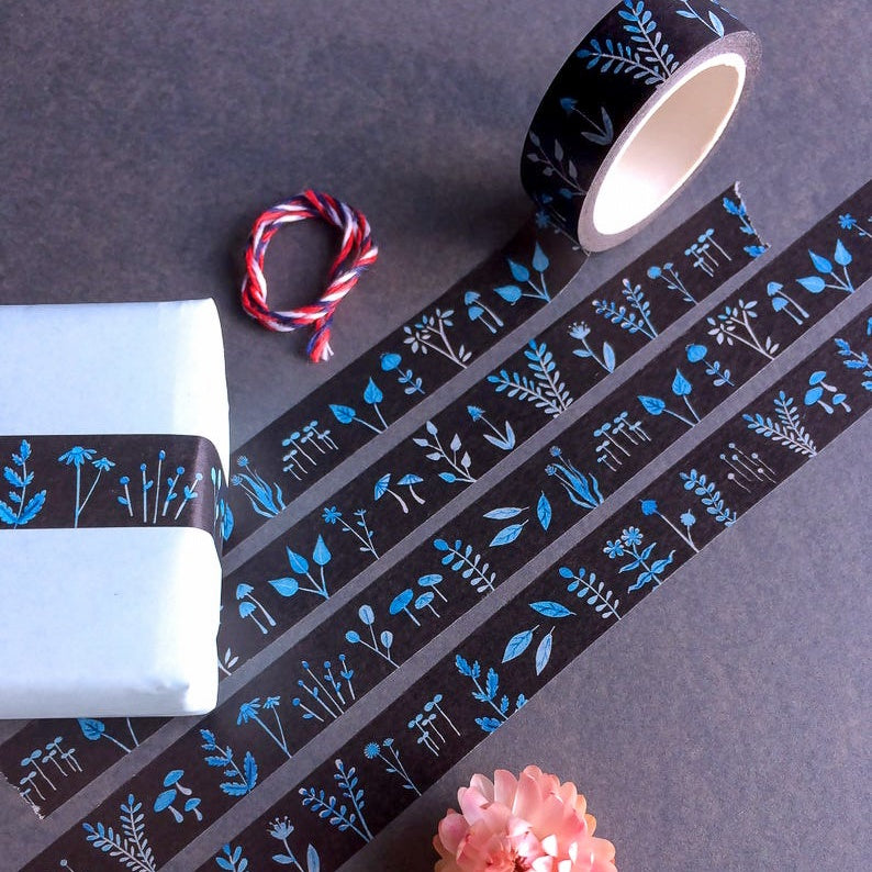 Hannakin Washi Tape : Night Flower