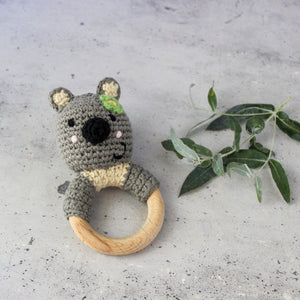Koala Wood Ring Rattle
