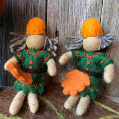 Woodland sprite elves Steiner toys Waldorf toys handmade all natural available at Tribe Castlemaine
