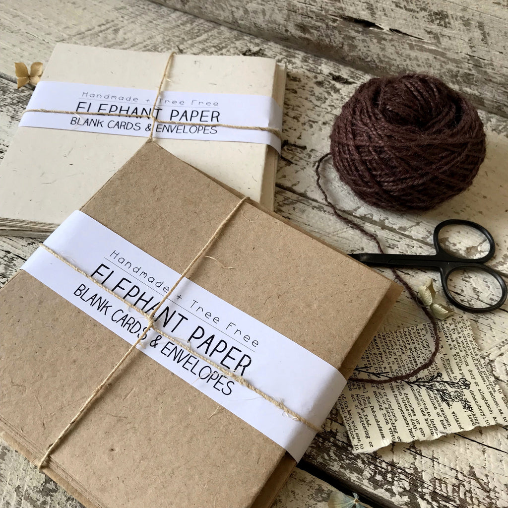 Elephant Paper Blank Card & Envelope  Set