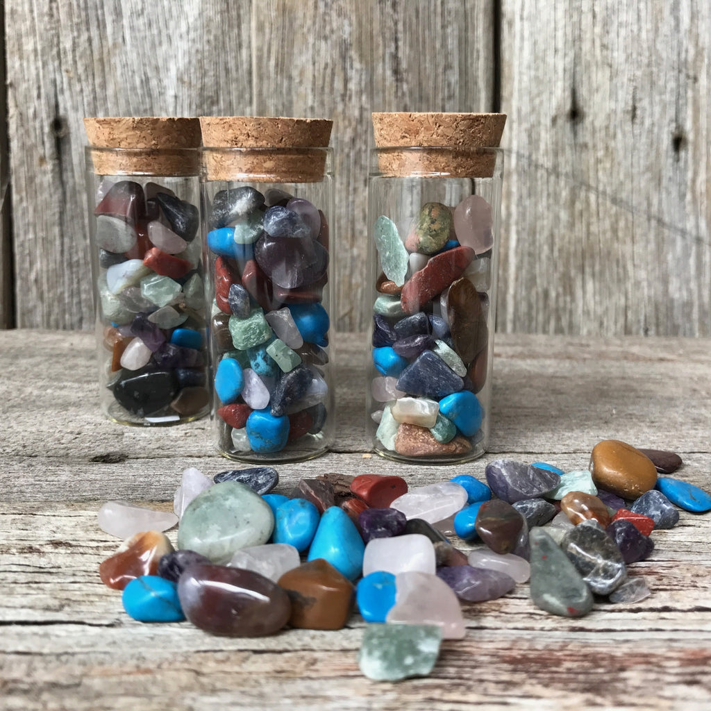 Little treasure jar of crystals at Tribe Castlemaine