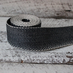 Herringbone webbing in black made by Nutscene available at Tribe Castlemaine