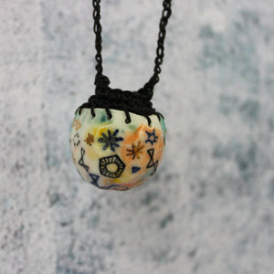 Crochet Pendant Necklace : Stars & Cells