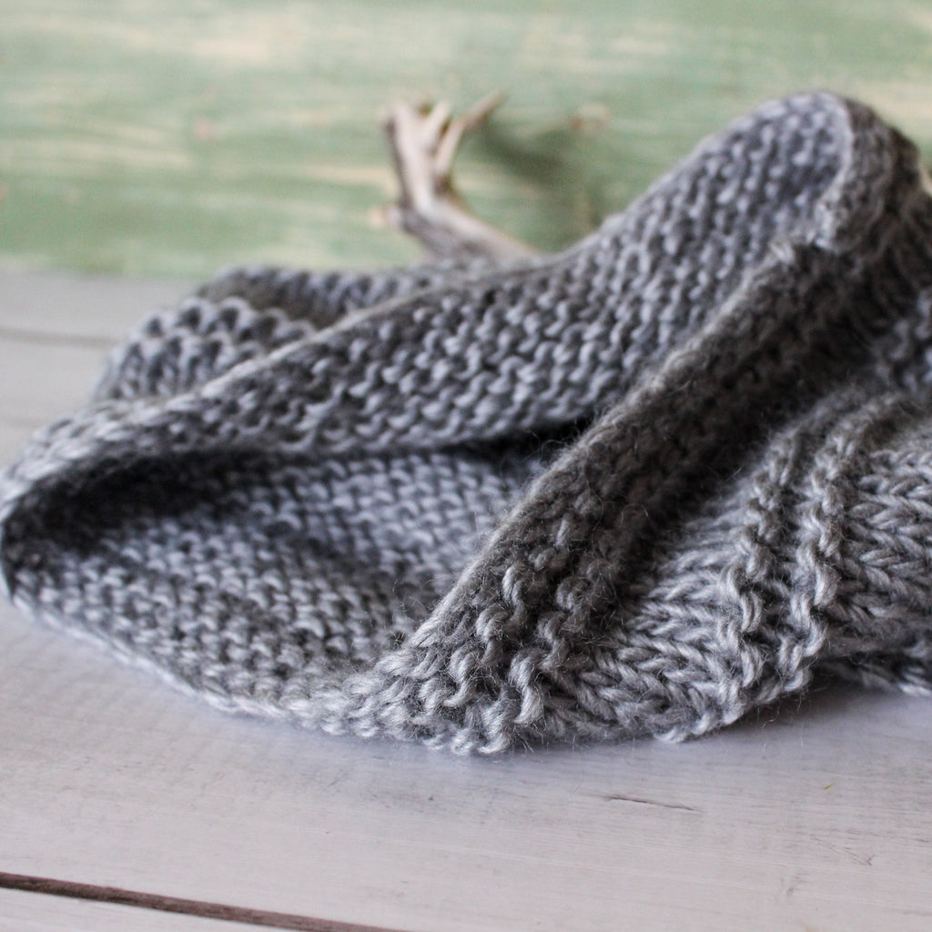 Hand Knit Wool Cowl