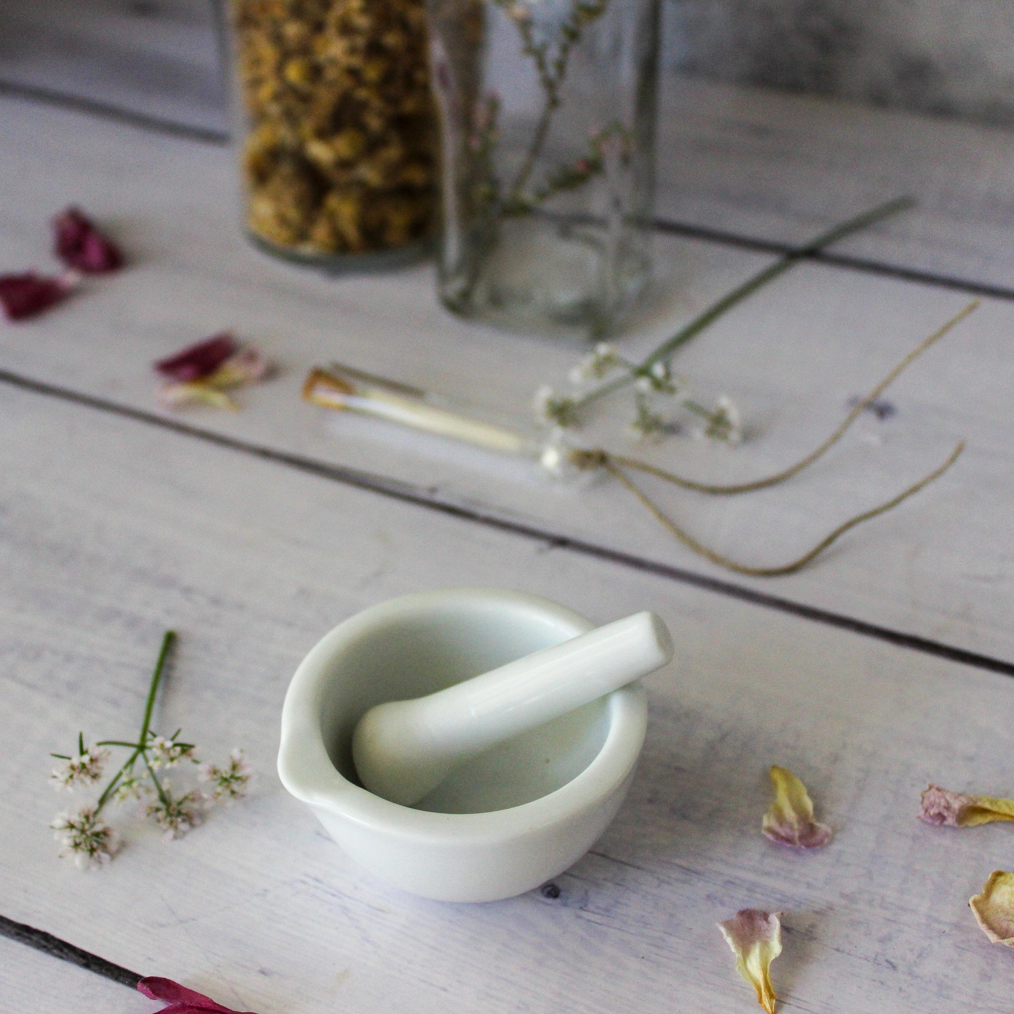 Tiny Porcelain Mortar & Pestle