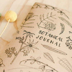Journal your observations of the natural world of flora with this beautiful A5 Botanical Journal from Nicole Berlach available at Tribe Castlemaine