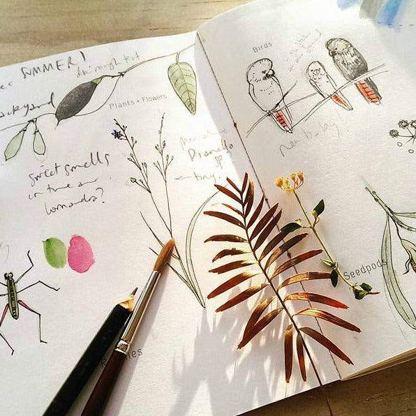 Journal your experiences of the natural world with this beautiful A5 Nature Journal from Nicole Berlach available at Tribe Castlemaine