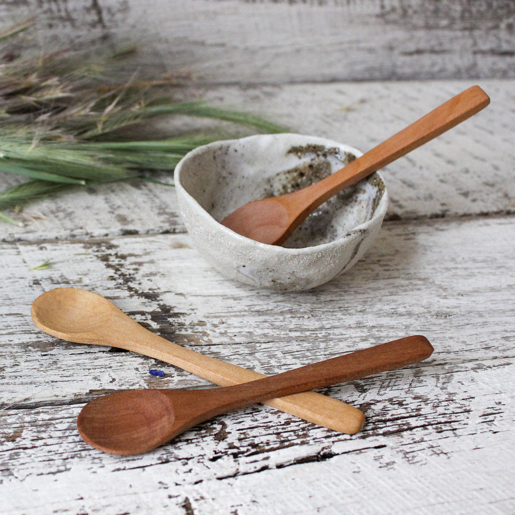 Hand Carved Little Wooden Spoons