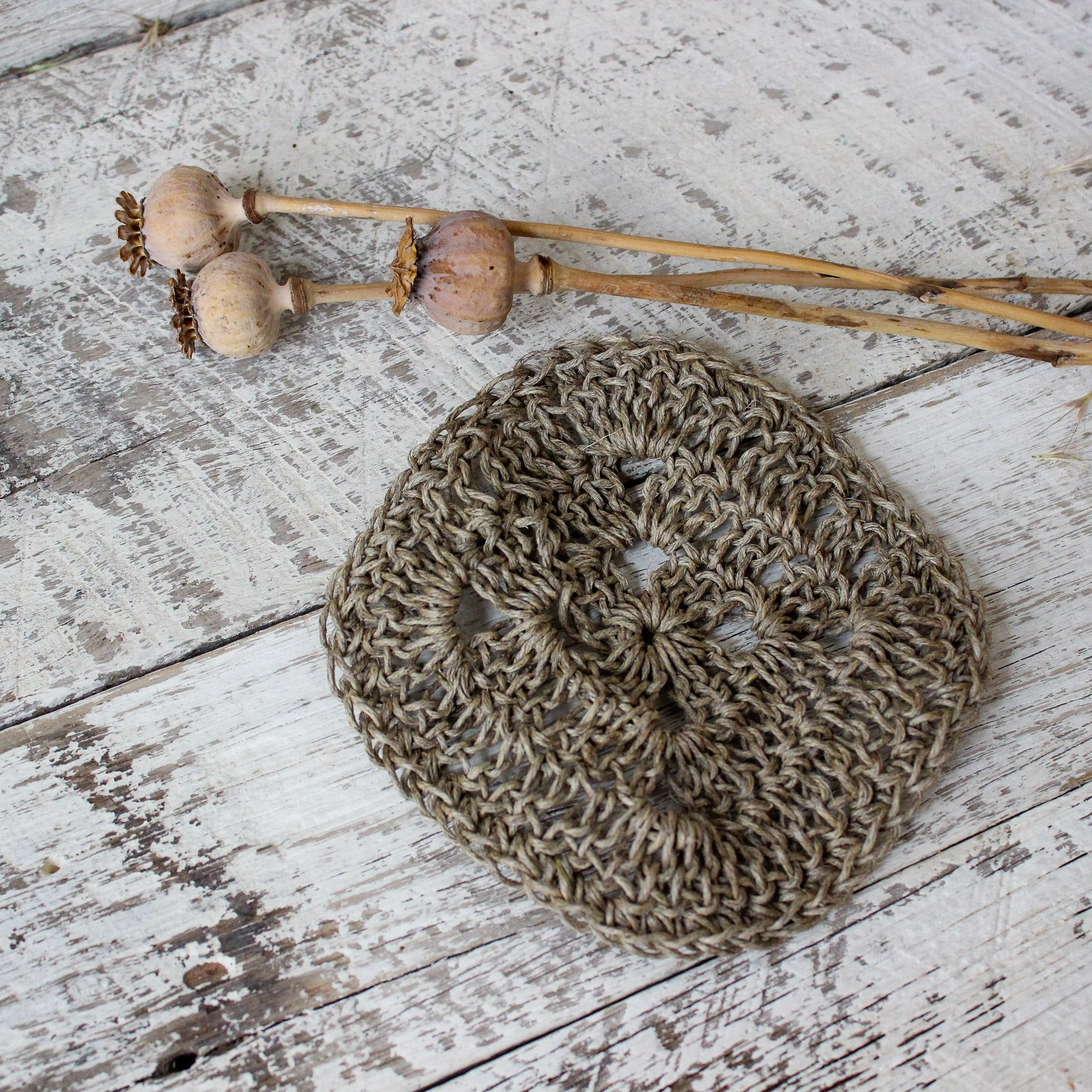 Handmade hemp scrubber by Amy Jade Creations