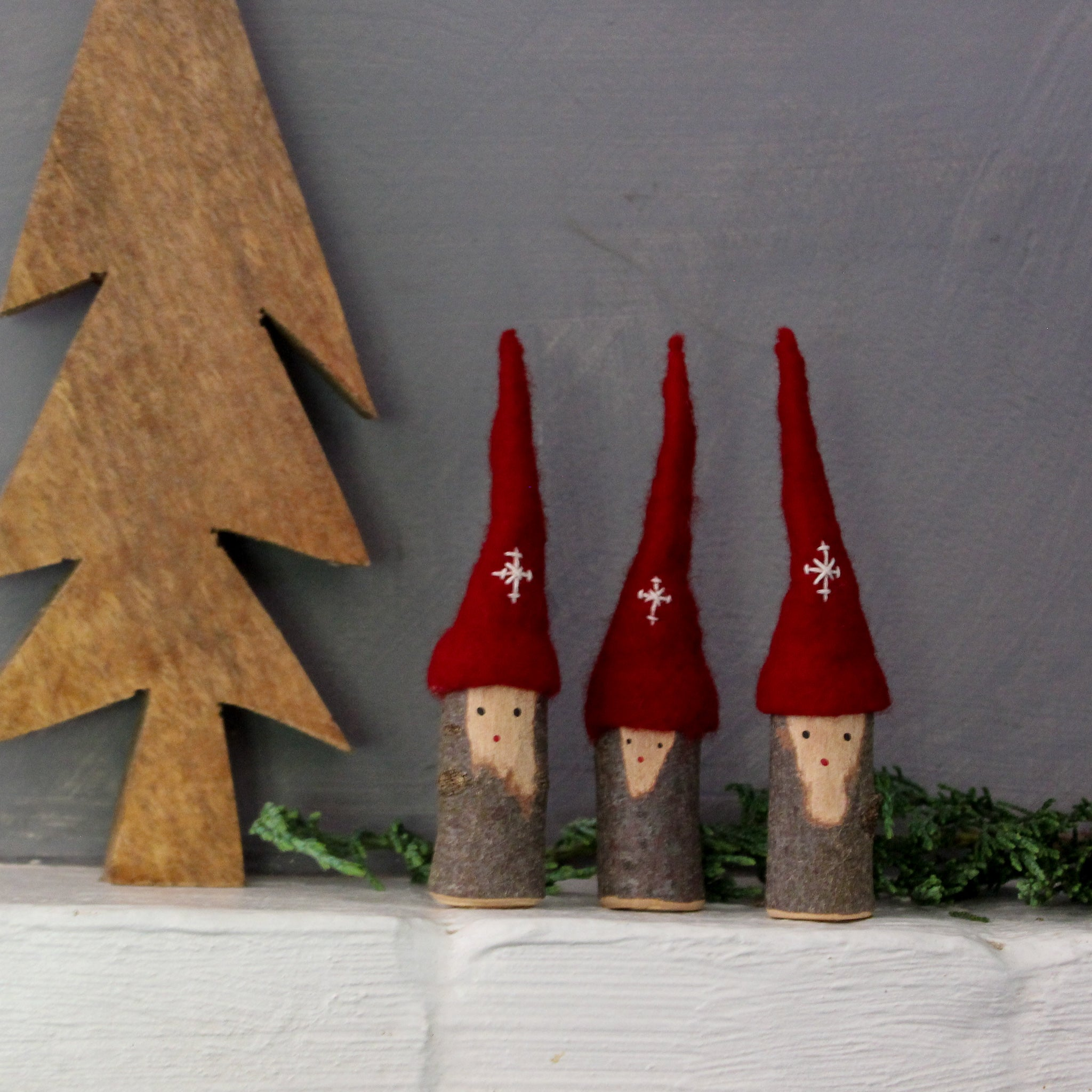 Christmas Tomte Branch Gnomes