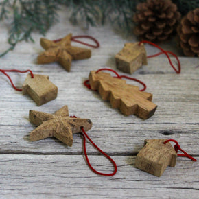 Hanging Wooden Ornaments