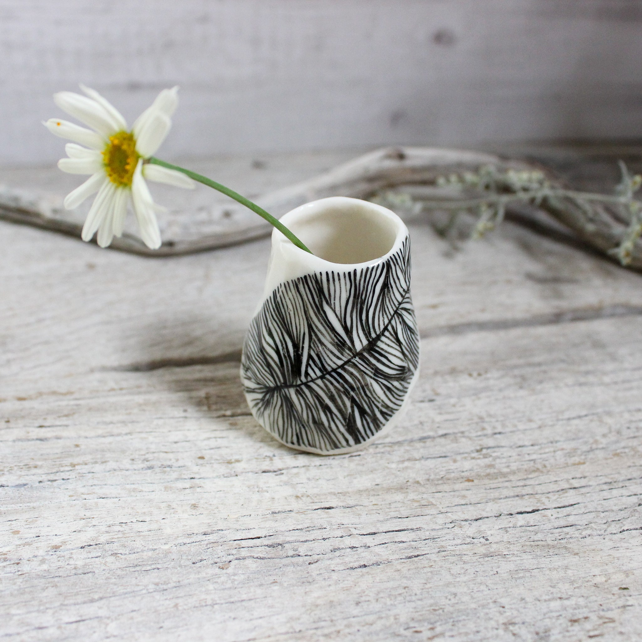 Tiny Feather Bud Vase