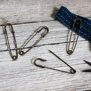 Safety Pins Vintage Style