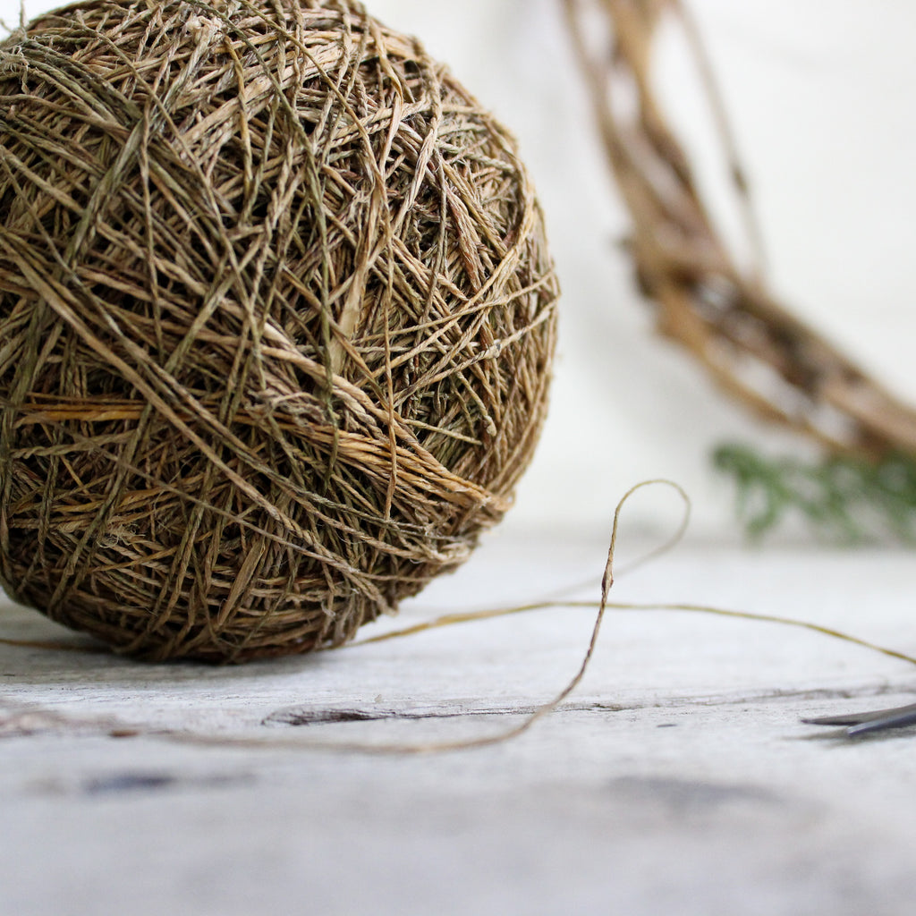 Handspun Hemp Twine Ball