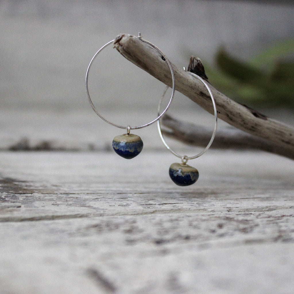 Ceramic Hoop Earrings