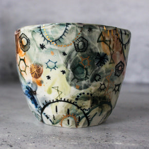 Extra Large Stars & Cells Ceramic Cup