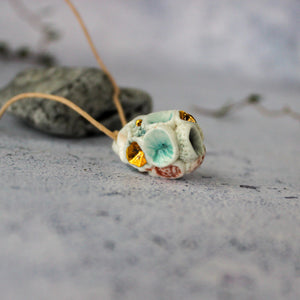Ceramic Coral Pod Necklace