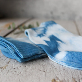 Botanical Dye Organic Cotton/Bamboo Socks Indigo