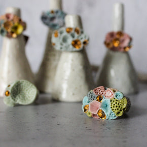 Rock Coral Rings Pastel Collection
