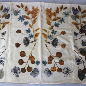 Botanical Print Wool Blanket