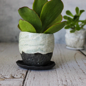 Ceramic Planter & Saucer Sets