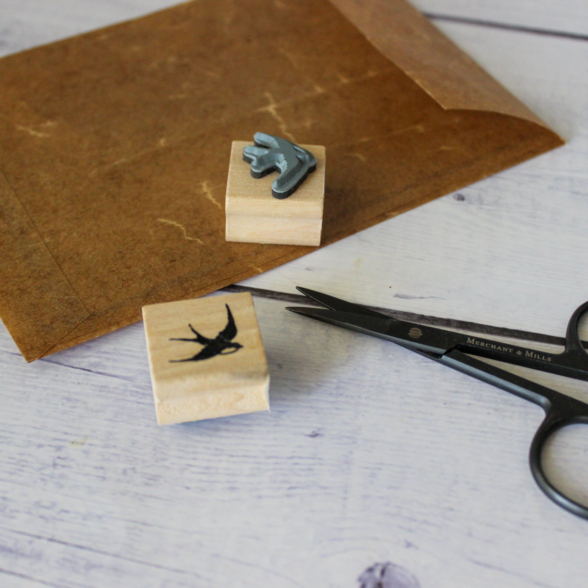 Small Flying Bird Rubber Stamp