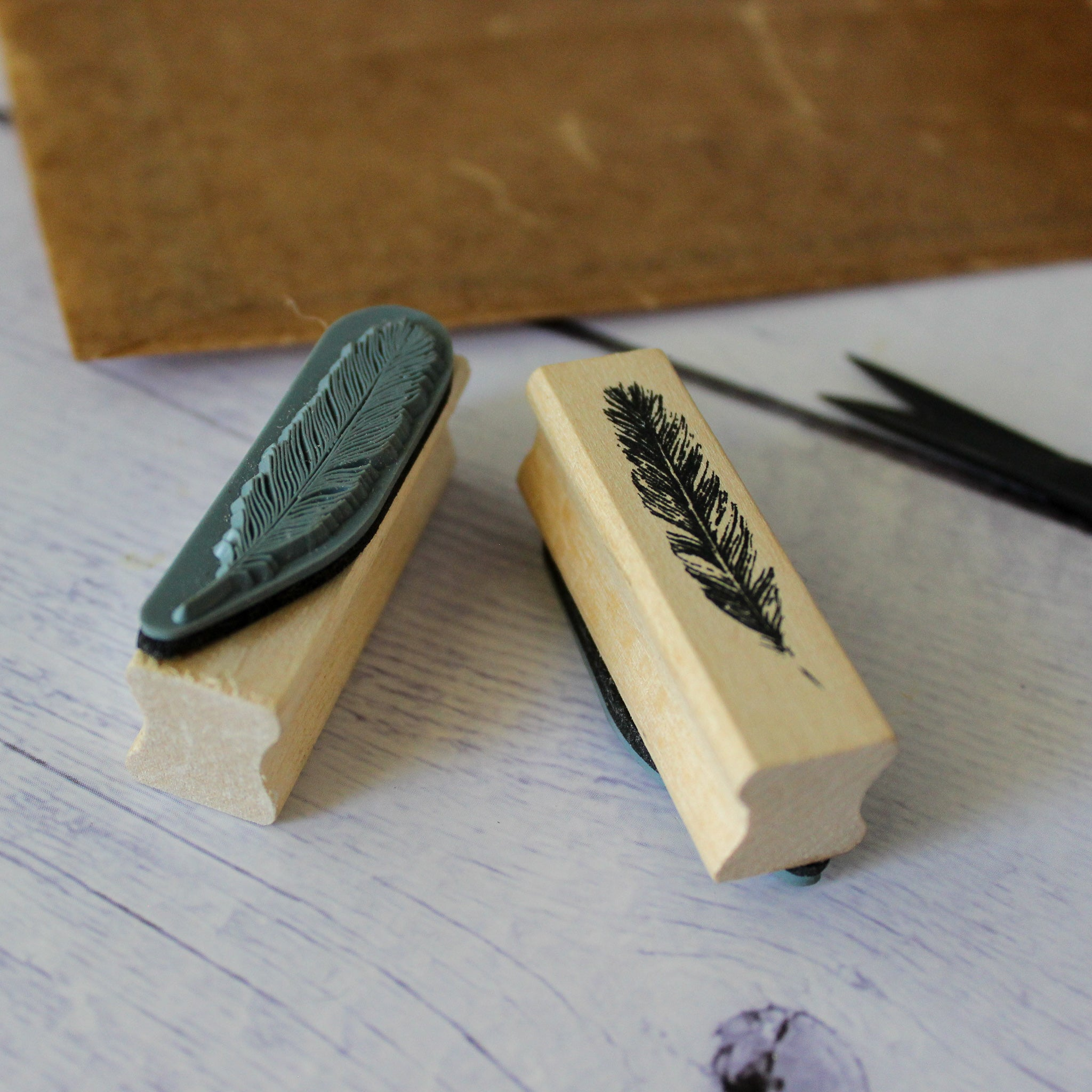 Feather Rubber Stamp
