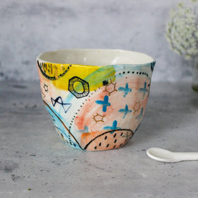 Extra Large Stars & Cells Ceramic Cup #2