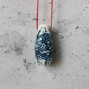 Ceramic Pod Necklaces Indigo