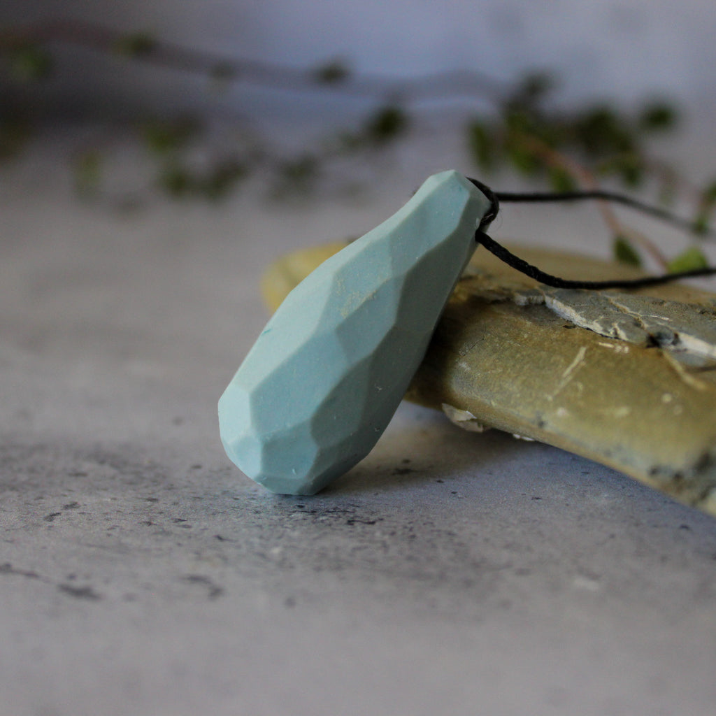 Ceramic Pod Necklaces Blue